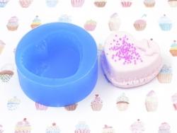 Moule en silicone - Gâteau coeur meringue