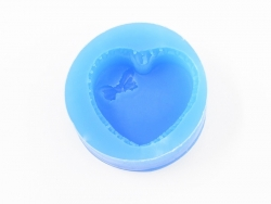 Silicone mould - heart-shaped meringue