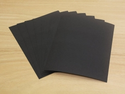 Sheets of shrink plastic - black