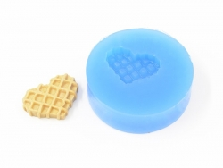 Silicone mould - heart-shaped waffle