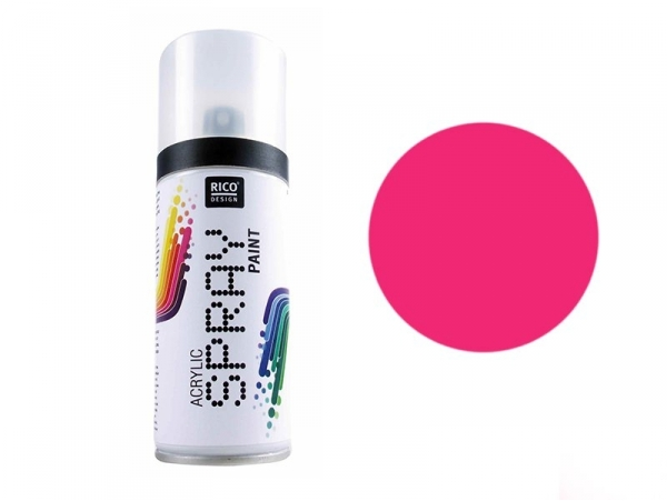 Bright pink acrylic paint - spray can (150 ml)