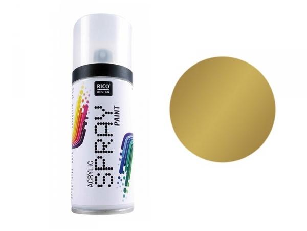 Gold acrylic paint - spray can (150 ml)