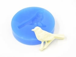 Silicone mould - bird sitting on a branch