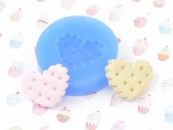 Moule en silicone - Biscuit en coeur