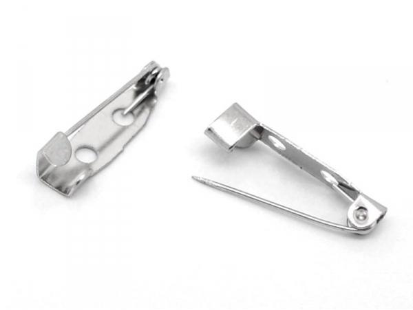 Support de broche argenté 25 mm  - 1