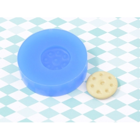 Silicone mould - little, round biscuit