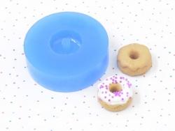 Silikonform - kleiner Donut mit Glasur