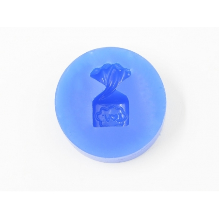 """Silicone mould - bag of candy with the word """"love"""""""