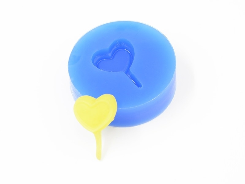 Silicone mould - heart-shaped lollipop