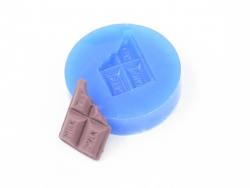 Silicone mould - nibbled chocolate bar