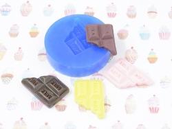 Moule en silicone - Tablette de chocolat croquée