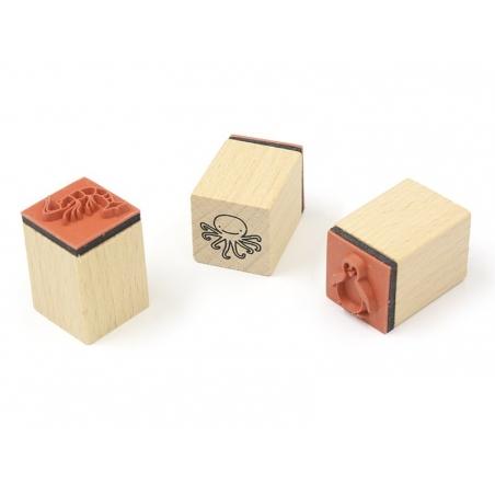 Kit 15 tampons Monde zoologique + 1 encreur noir Yellow Owl Workshop - 2