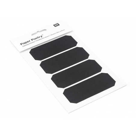 Acheter 4 étiquettes rectangulaires tronquées - Ardoise - 3,60€ en ligne sur La Petite Epicerie - Loisirs créatifs