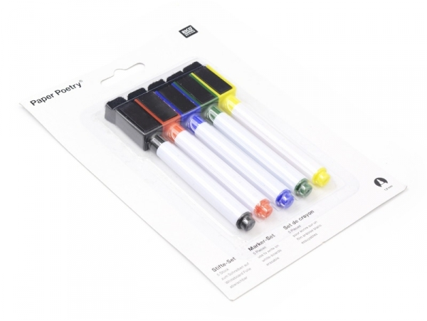 Acheter 5 feutres effaçables pour ardoise blanche - 4,99€ en ligne sur La Petite Epicerie - Loisirs créatifs