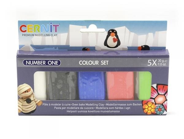 CERNIT Colour set Number one - 5 couleurs  Cernit - 1