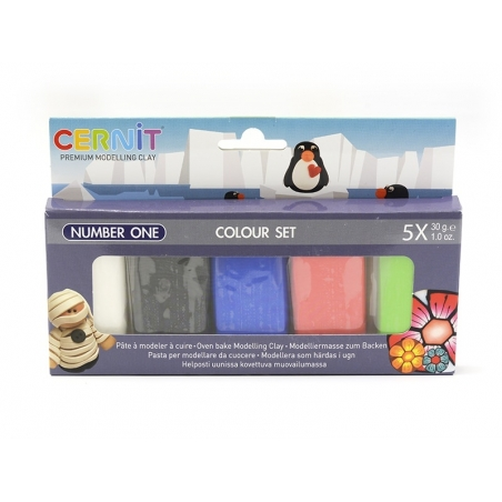 """CERNIT colour set """"Number One"""" - 5 colours"""