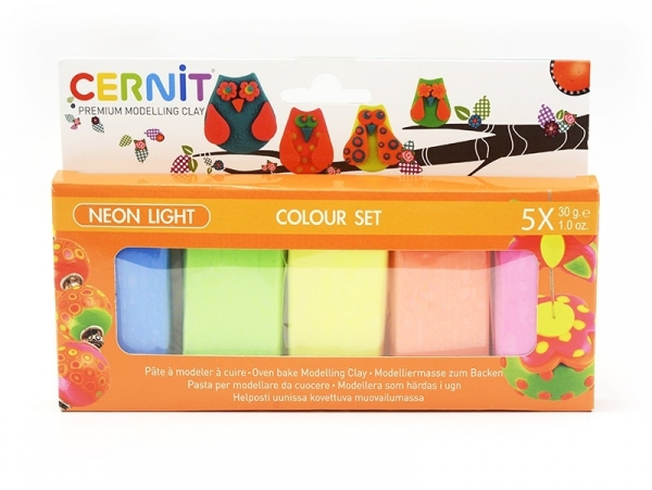 CERNIT Colour Set Neon Light - 5 couleurs Cernit - 1
