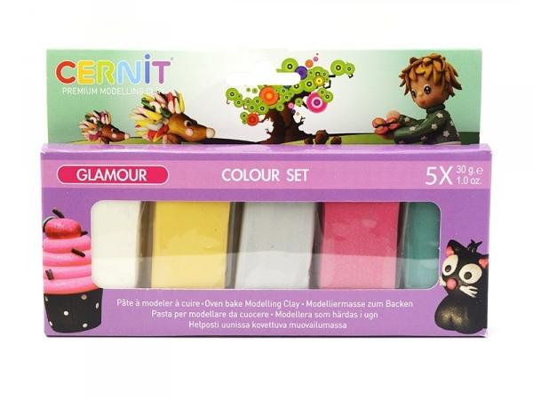 CERNIT Colour set Glamour - 5 couleurs Cernit - 1