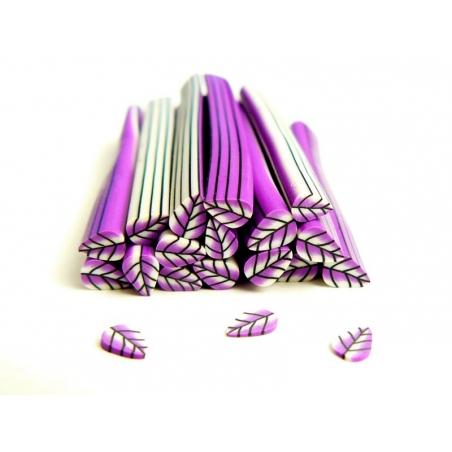 Cane feuille violette en pâte fimo - à découper en tranches