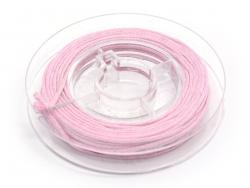 Kleine Rolle mit gewachstem Baumwollband, 1 mm x 5 m - rosa