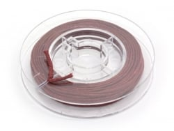 Small reel with waxed cotton thread, 1 mm x 5 m - magenta