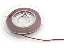Kleine Rolle mit gewachstem Baumwollband, 1 mm x 5 m - magentarot