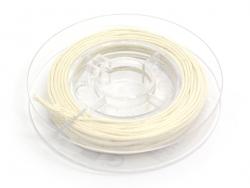Kleine Rolle mit gewachstem Baumwollband, 1 mm x 5 m - cremefarben