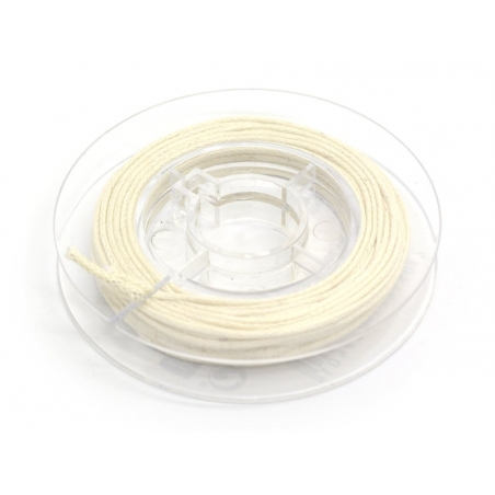 Small reel with waxed cotton thread, 1 mm x 5 m - off-white