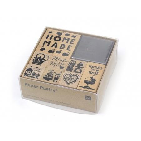 """Kit 8 tampons """"fait maison"""" fruits + 1 encreur noir Yellow Owl Workshop - 2"""