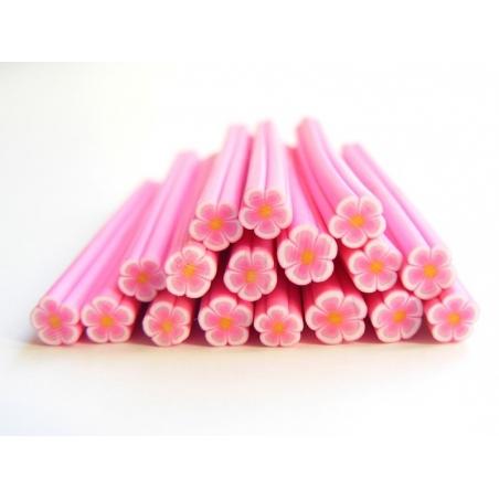 Acheter Cane paquerette rose en pâte fimo - à découper en tranches - 0,99€ en ligne sur La Petite Epicerie - Loisirs créatifs