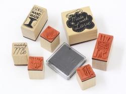 """Kit 7 tampons """"fait maison"""" couture + 1 encreur noir Yellow Owl Workshop - 3"""