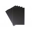 5 feuilles de film ardoise noir - 23 x 33 cm