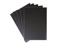 5 x schwarze Tafelfolie - 23 cm x 33 cm