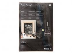 5 black sheets of chalkboard foil - 23 cm x 33 cm
