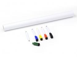 Selbstklebende weiße Tafelfolie - 45 cm x 200 cm