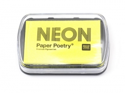 Neon yellow stamp ink pad