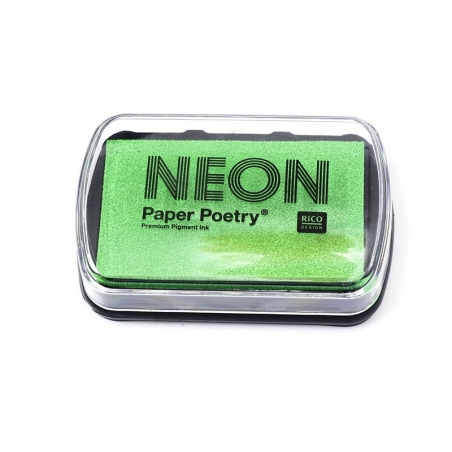Neon green stamp ink pad