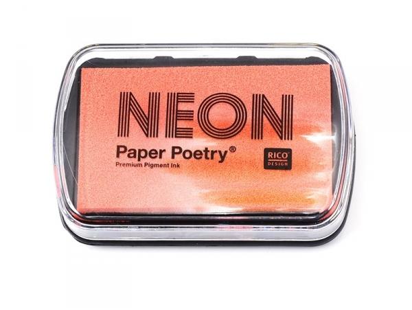 Neon orange stamp ink pad