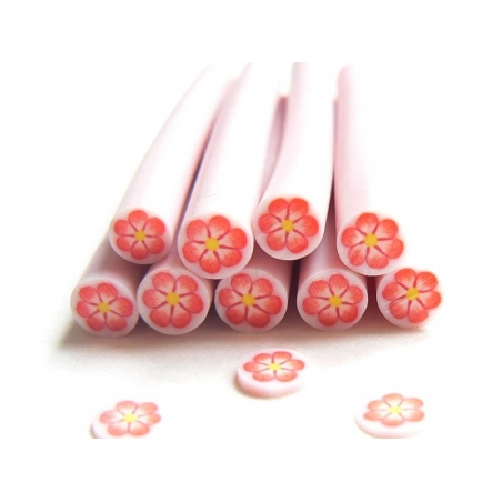 Acheter Cane fleur rose entourée de blanc - 0,49€ en ligne sur La Petite Epicerie - Loisirs créatifs
