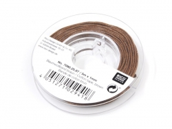 Small waxed cotton thread reel, 1 mm x 5 m - brown