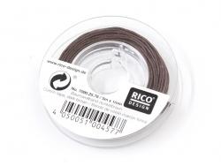 Petite bobine de fil de coton ciré 1 mm x 5 m - marron foncé