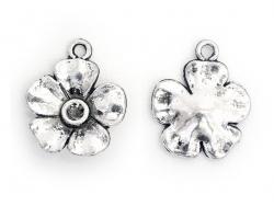 Acheter 1 Breloque fleur argentée - bouton d'or - 0,39€ en ligne sur La Petite Epicerie - Loisirs créatifs
