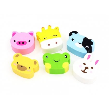 Lot de 6 gommes animaux Ooly - 1