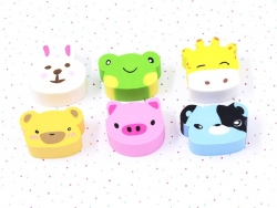 Lot de 6 gommes animaux Ooly - 2
