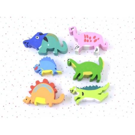 Acheter Lot de 6 gommes dinosaures - 2,80€ en ligne sur La Petite Epicerie - Loisirs créatifs