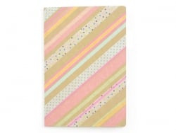 Notebook that can be decorated, 14.5 cm x 21 cm - 80 pages, white paper