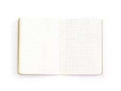 Carnet à décorer 10,5 x 14 cm - 80 pages à carreaux