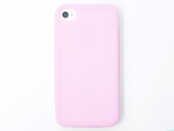iPhone 4/4S case that can be embroidered - light pink