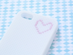 Coque IPHONE 4/4S à broder - Rose clair