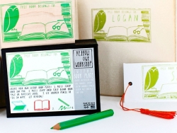 "Tampon ""This book belongs to"" + Encreur vert + Crayon vert Yellow Owl Workshop - 3"